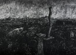 24-Paper on Caharcoal, 201040x90 cm.