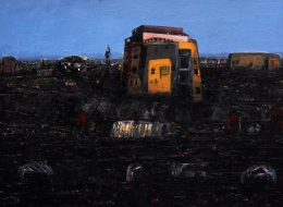 18-Dead City, Mixed Media on Canvas, 2010, 120x150 cm.