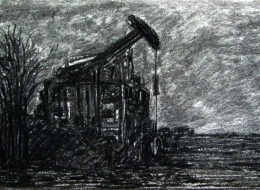 28-Paper on Charcoal Pen%2c 2009.