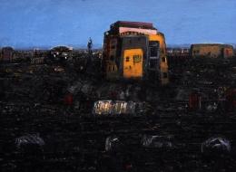 18-Dead City, Mixed Media on Canvas, 2010, 120x150 cm.