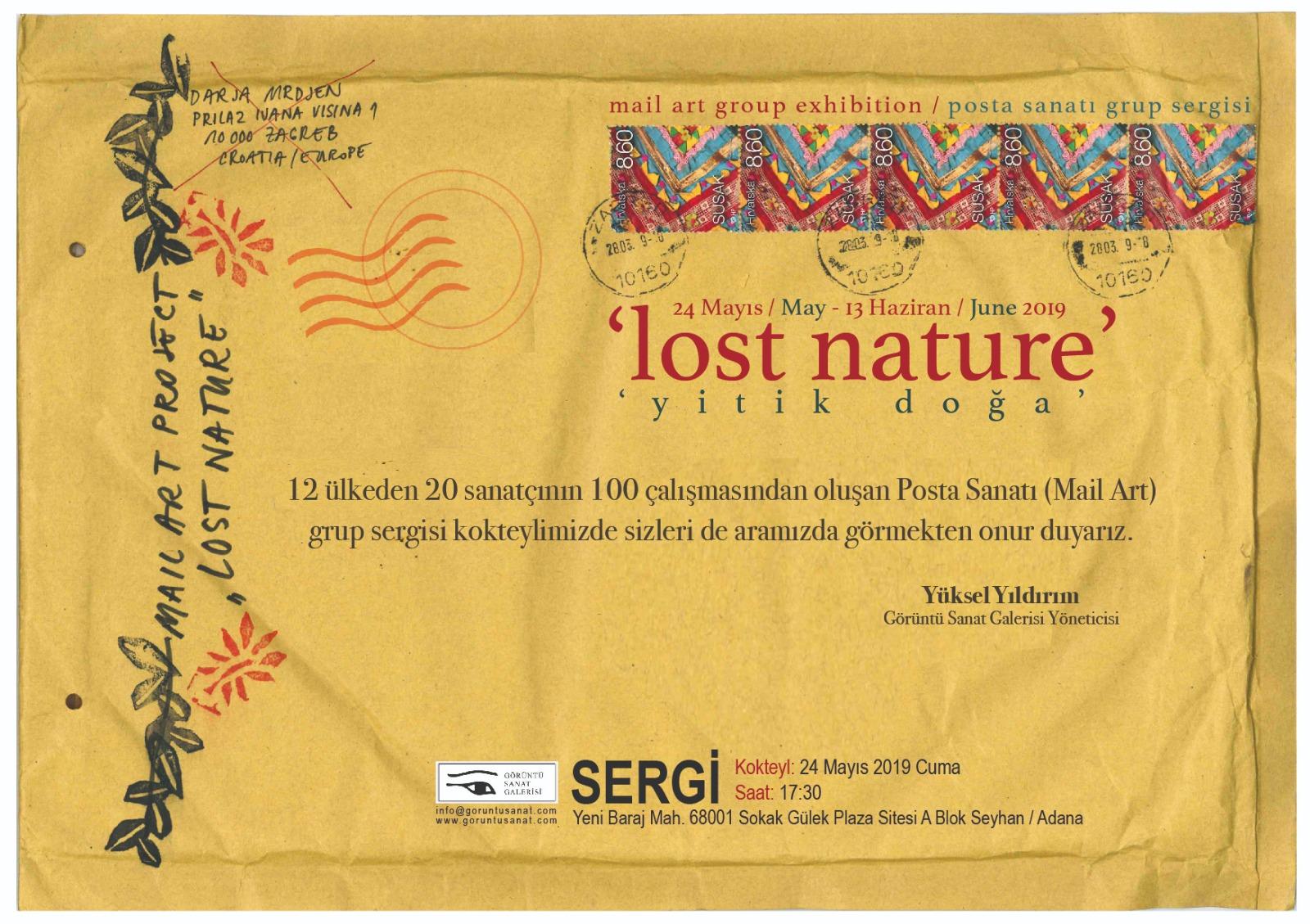 lost nature (yitik doğa) posta sanatı grup sergisi