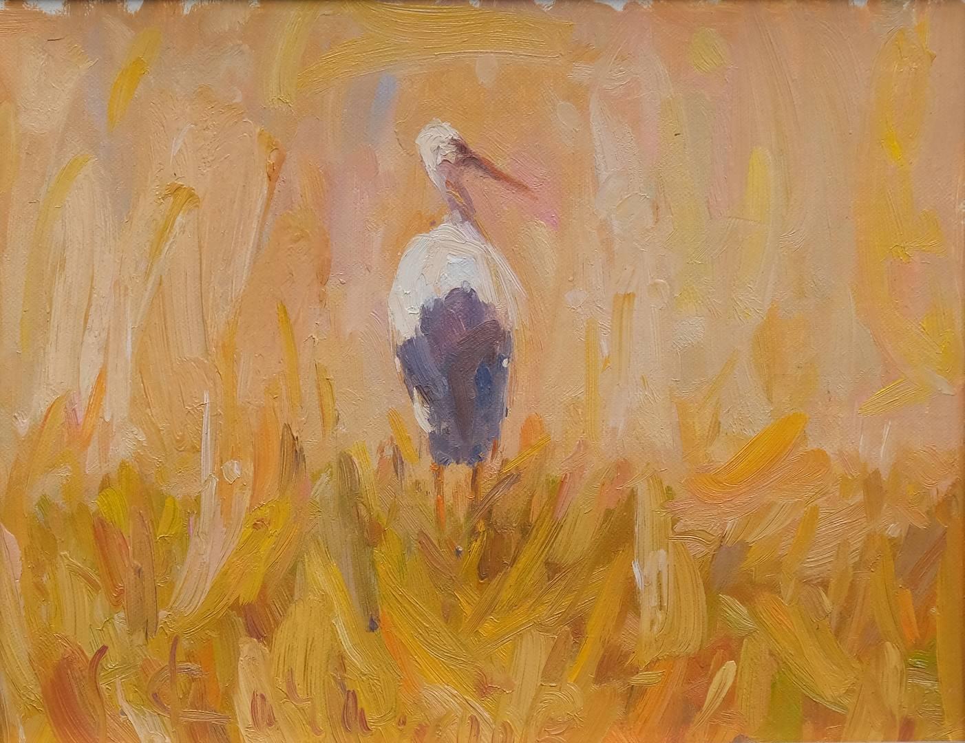 34x42 cm, Tuval üzerine yağlı boya