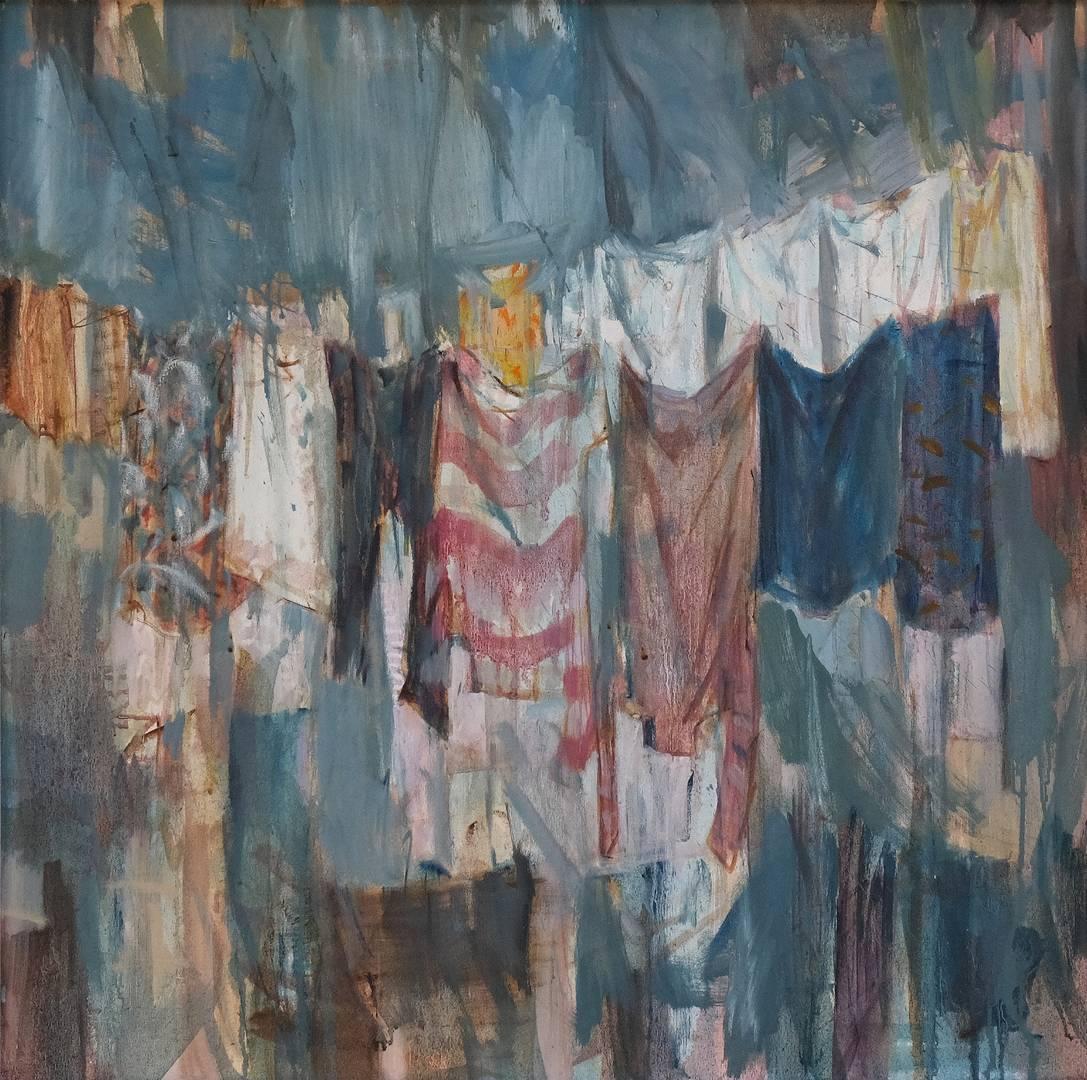 İrfan Önürmen, Çamaşırlar, 75x75 cm, Tuval Üzerine Yağlı Boya