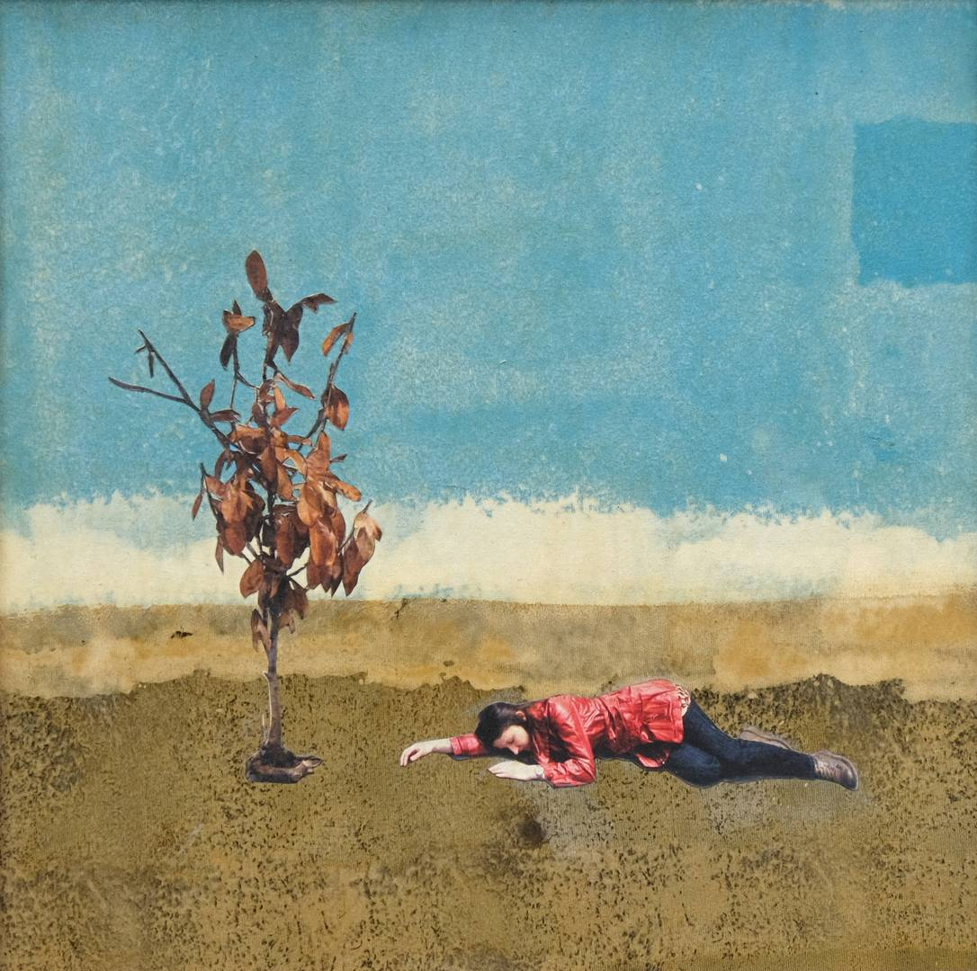 Murat Özbakır, parça-lan-ma-lar, 50x50 cm, Tuval üzerine karışık teknik, 2009