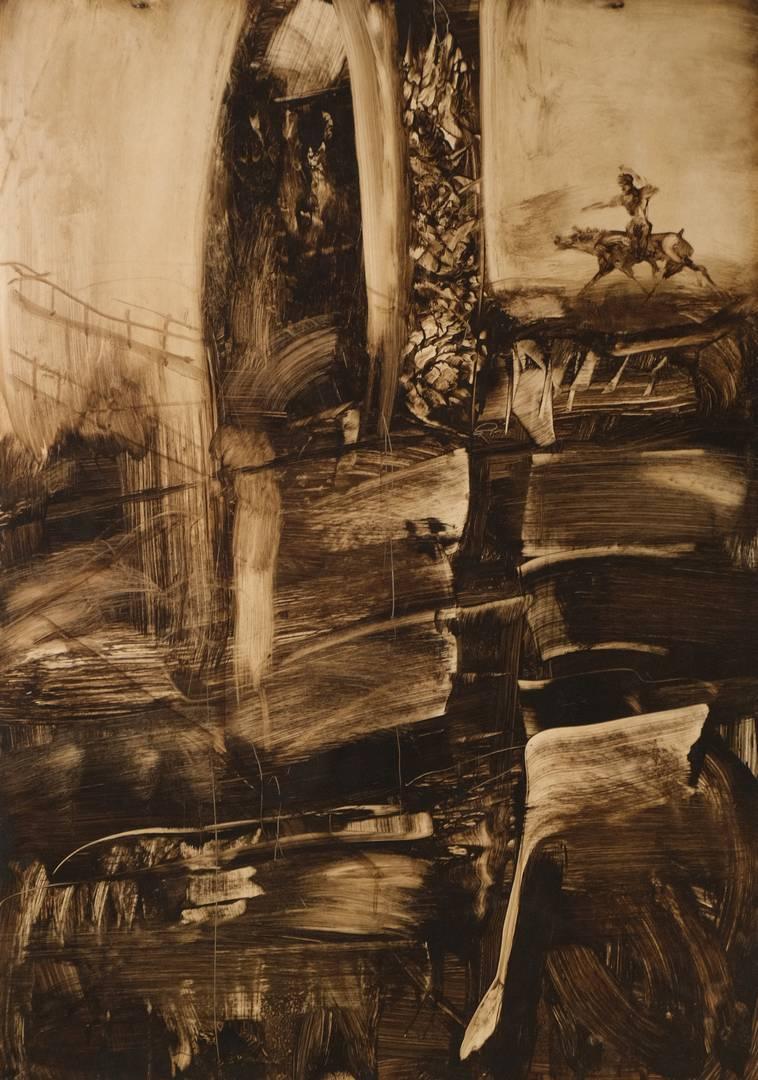 Mustafa Horasan 70x100 cm, Kağıt üzerine karışık teknik
