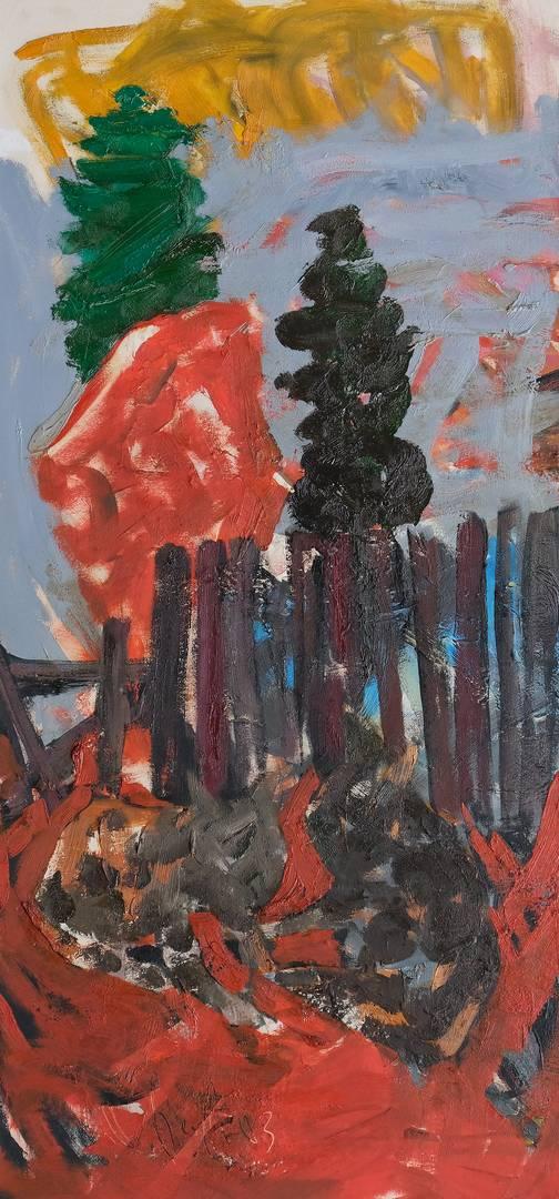 Orhan Benli, 152x72 cm, Tuval üzerine yağlı boya, 2003