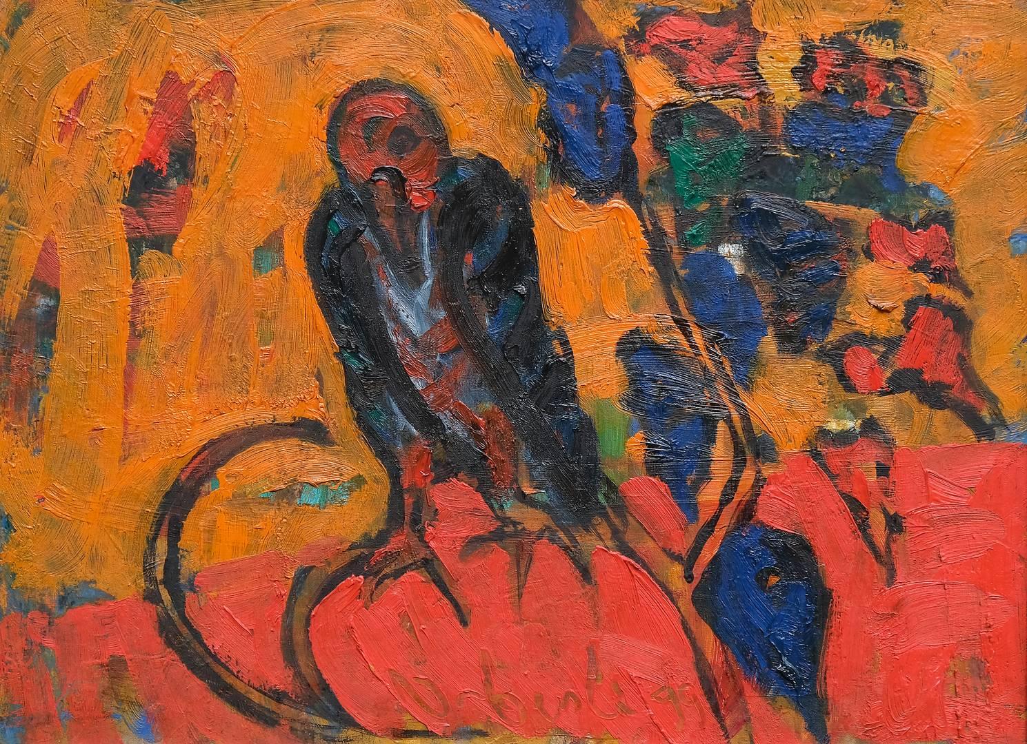 Orhan Benli, 53x72 cm, Tuval üzerine yağlı boya, 1999