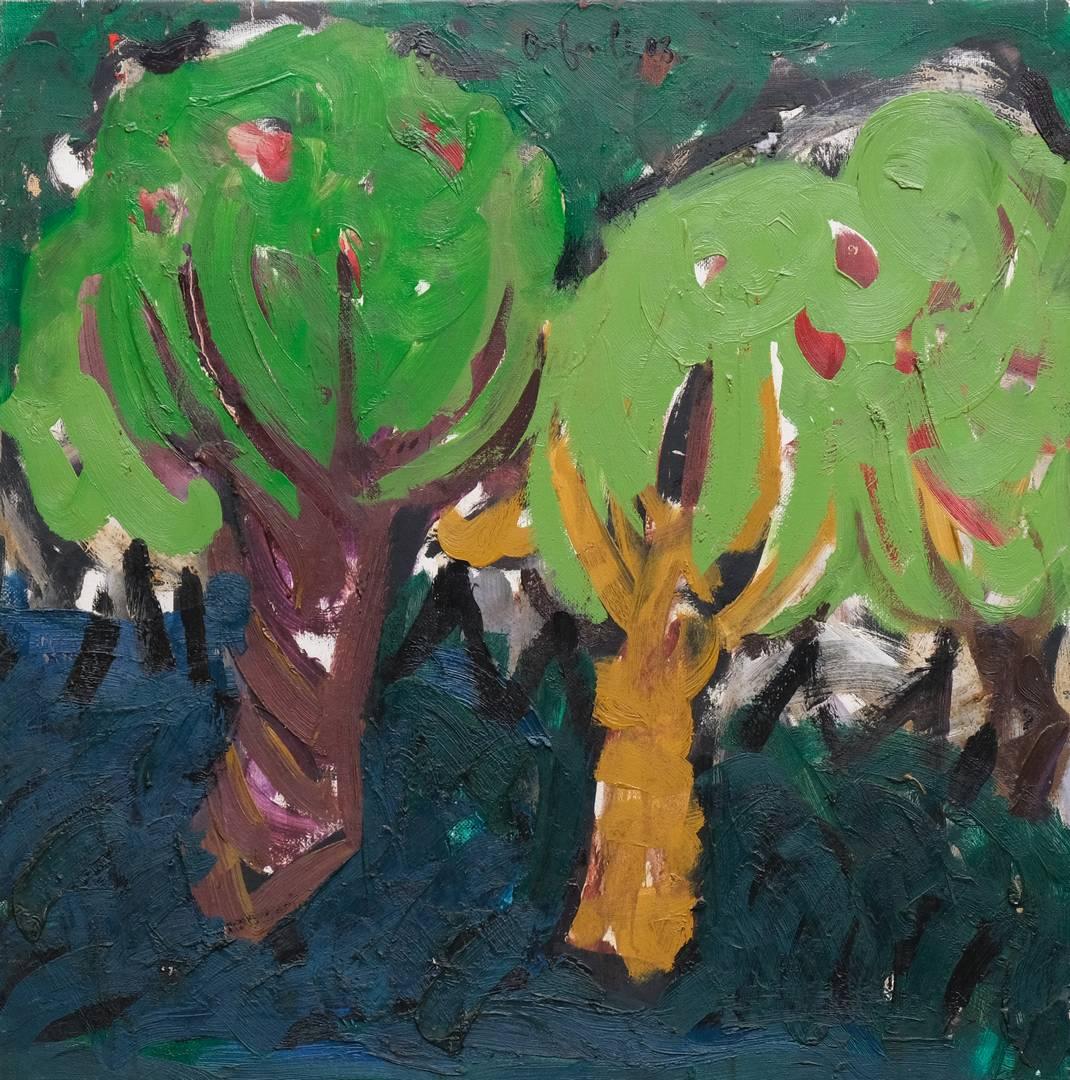 Orhan Benli, 90x90 cm, Tuval üzerine yağlı boya, 2003