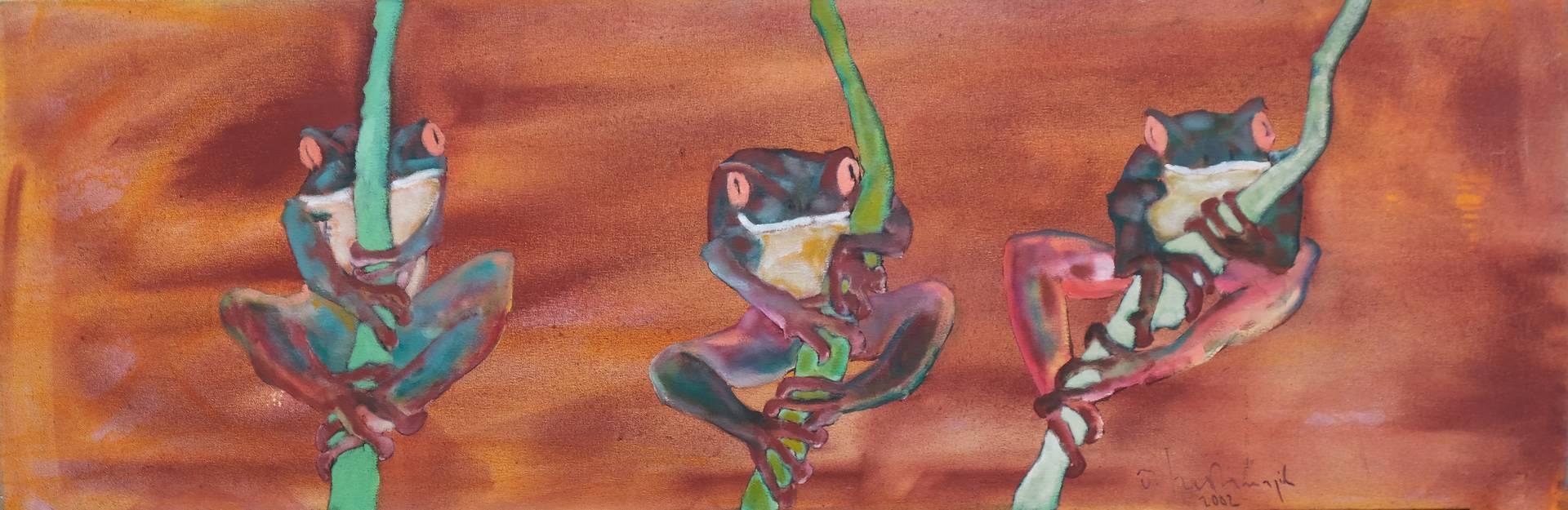 Özgür Korkmazgil, 50x150 cm, Tuval üzerine yağlı boya, 2002