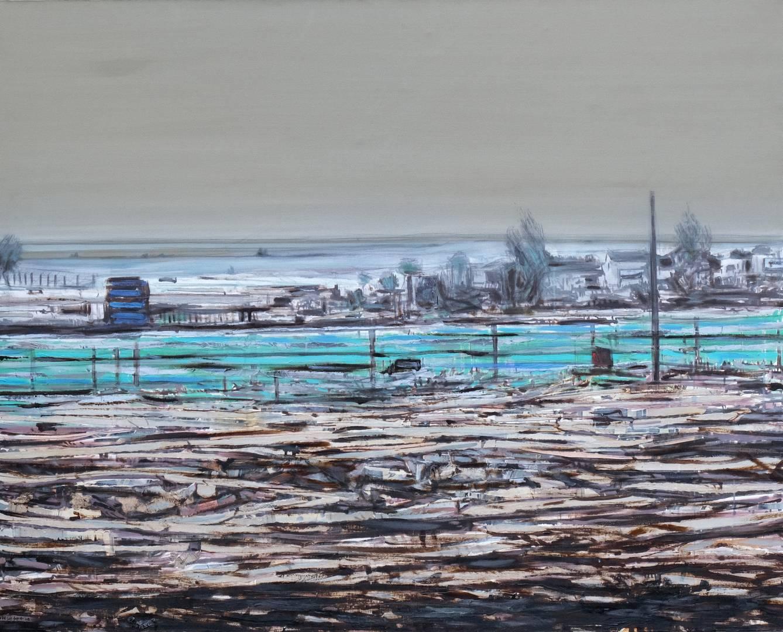Sait Toprak, 120x150cm, Tuval üzerine karışık teknik