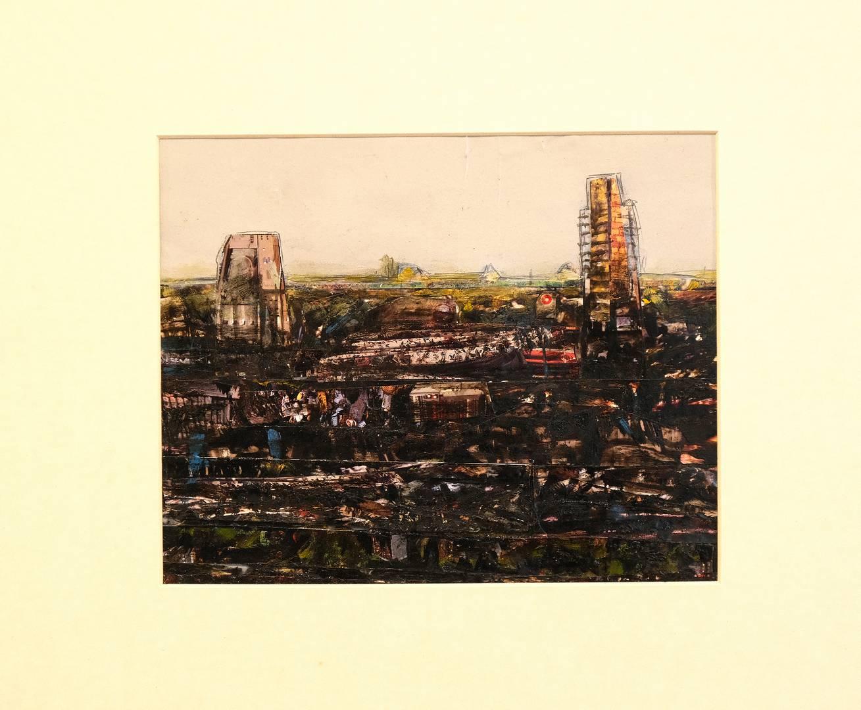 Sait Toprak, 18x23 cm,Kağıt üzerine karışık teknik, 2009
