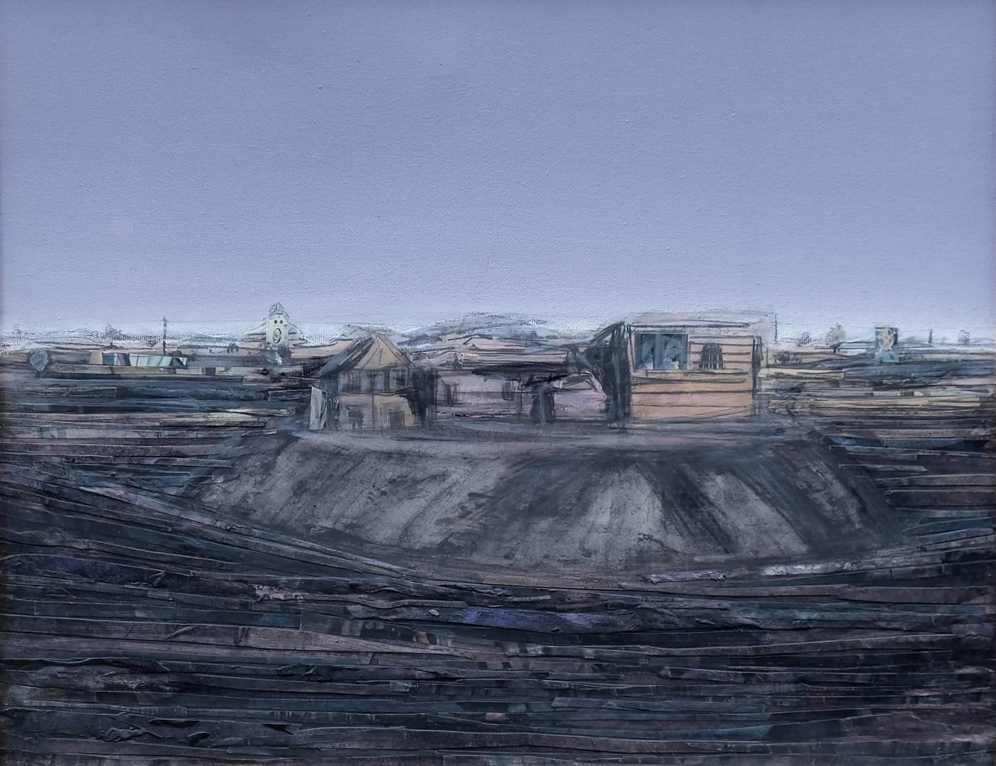 Sait Toprak, 40x50 cm,Tuval üzerine karışık teknik, 2008