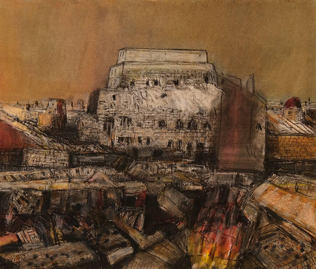 Sait Toprak, 50x50 cm, Kağıt üzerine pastel, 2012 (2)