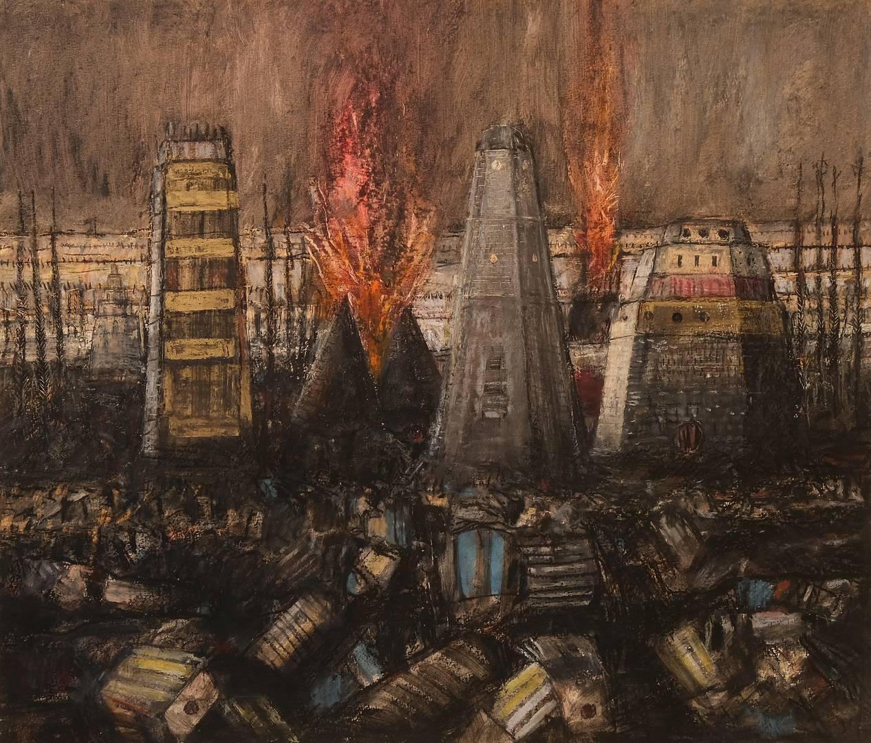 Sait Toprak, 50x50 cm, Kağıt üzerine pastel, 2012