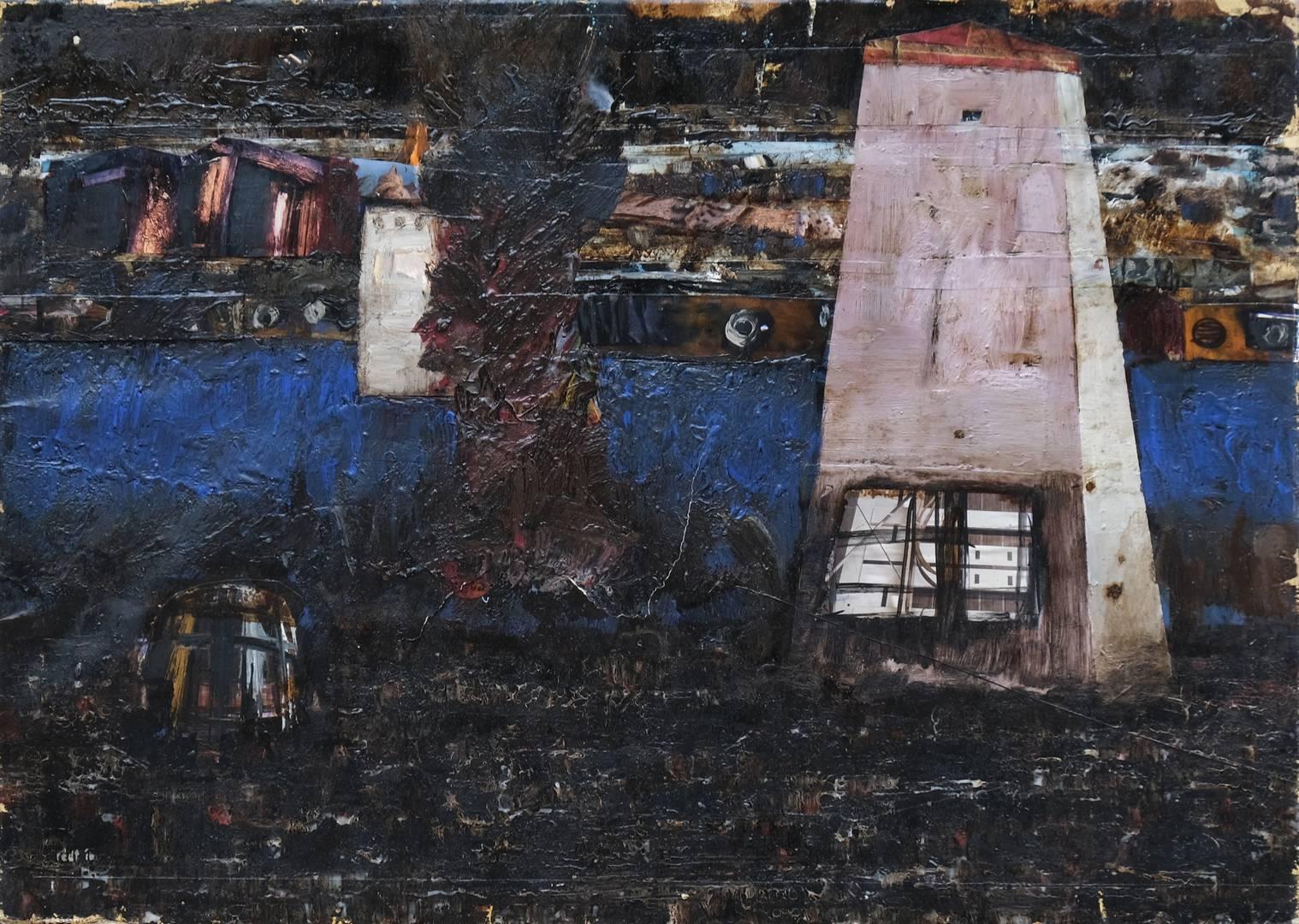 Sait Toprak, 50x70 cm, Tuval üzerine karışık teknik