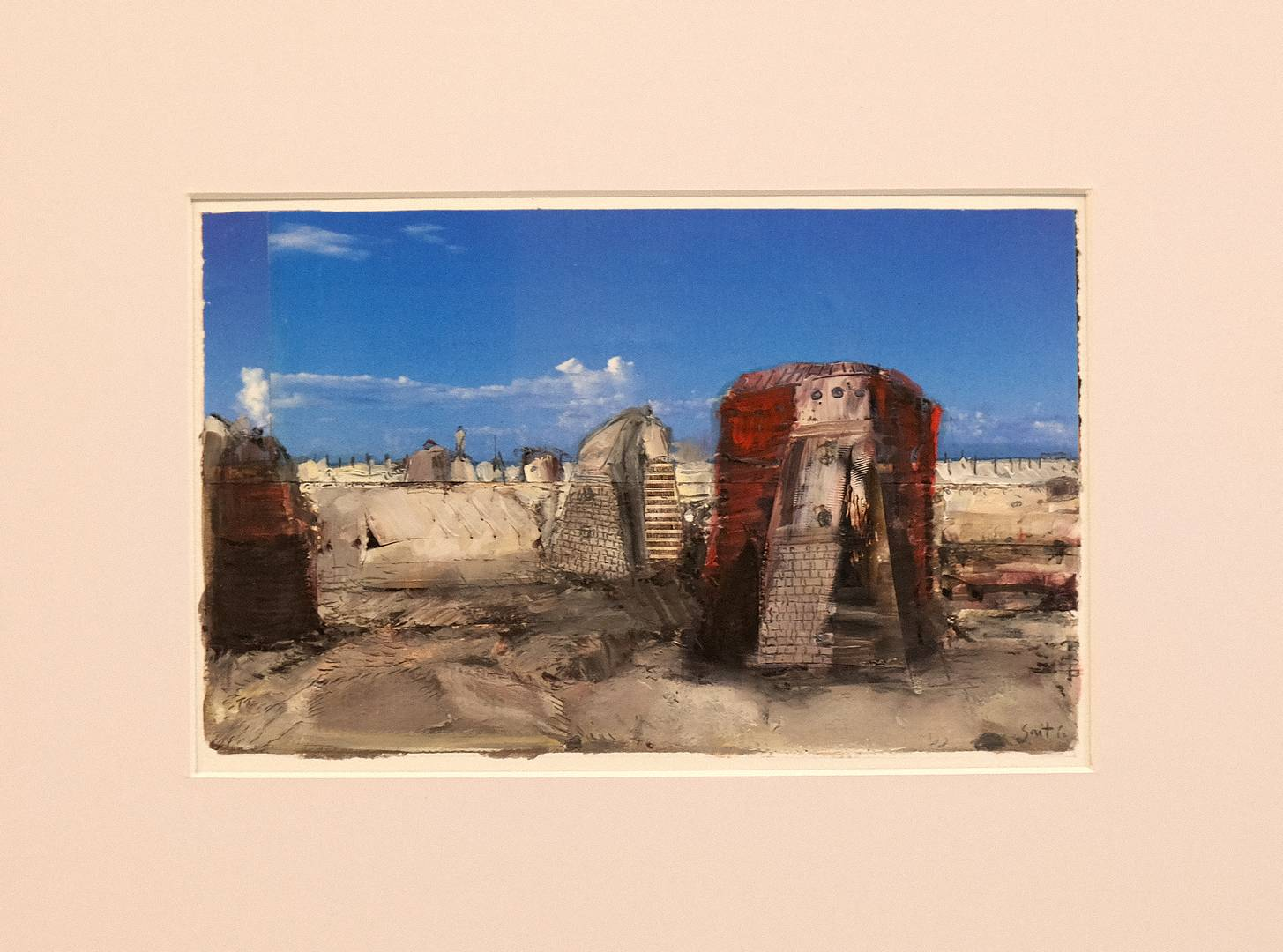 Sait Toprak, A story about isolate nature, 15x23 cm, Kağıt üzerine karışık teknik, 2012 (1)