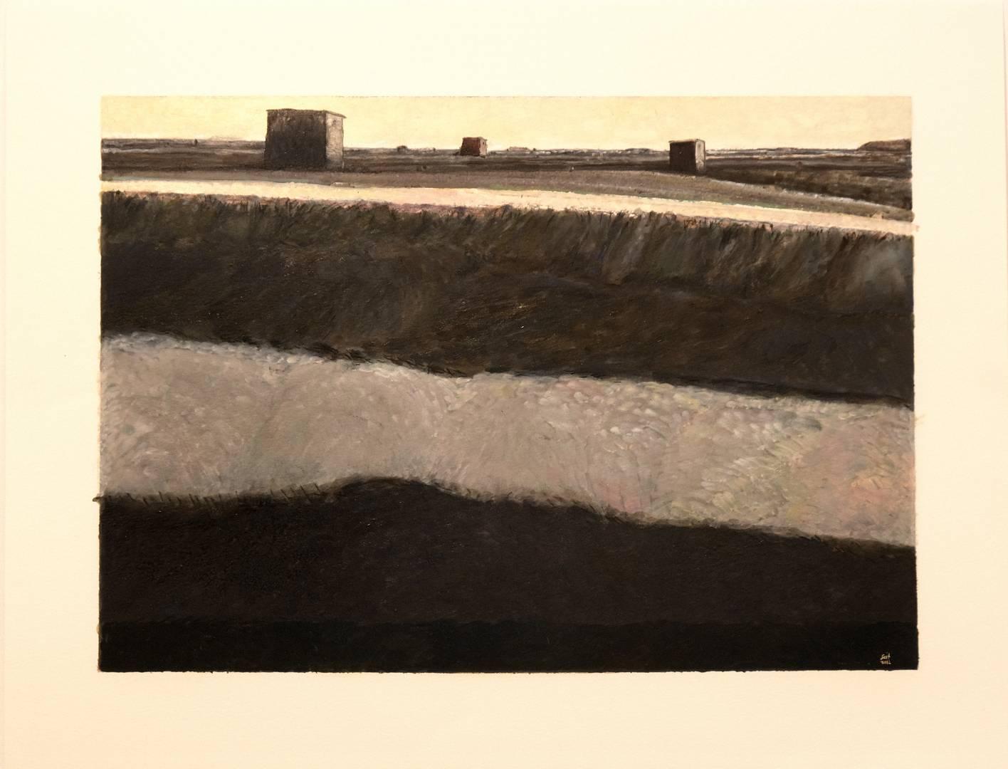 Sait Toprak, Landscape, 37x51cm ,Kağıt üzerine karışık teknik, 2012 (2)