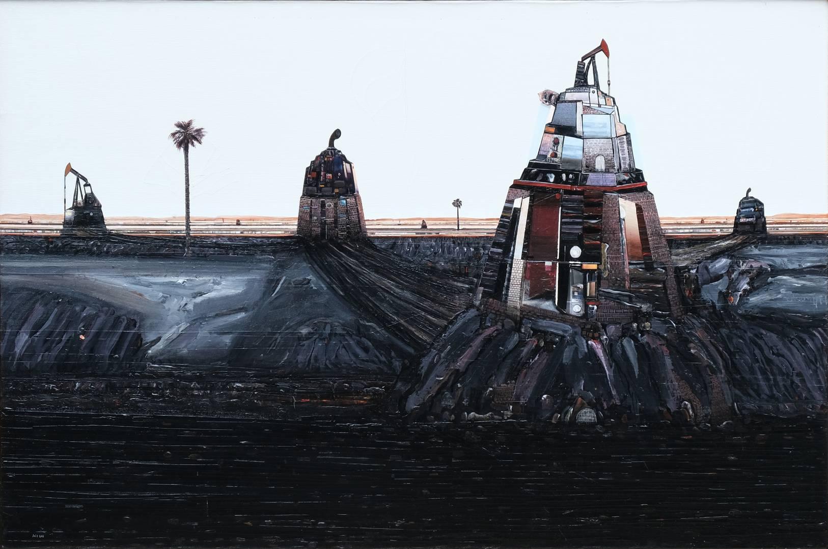 Sait Toprak, Petrole Hücum, 120x80, Tuval üzerine karışık teknik, 2016