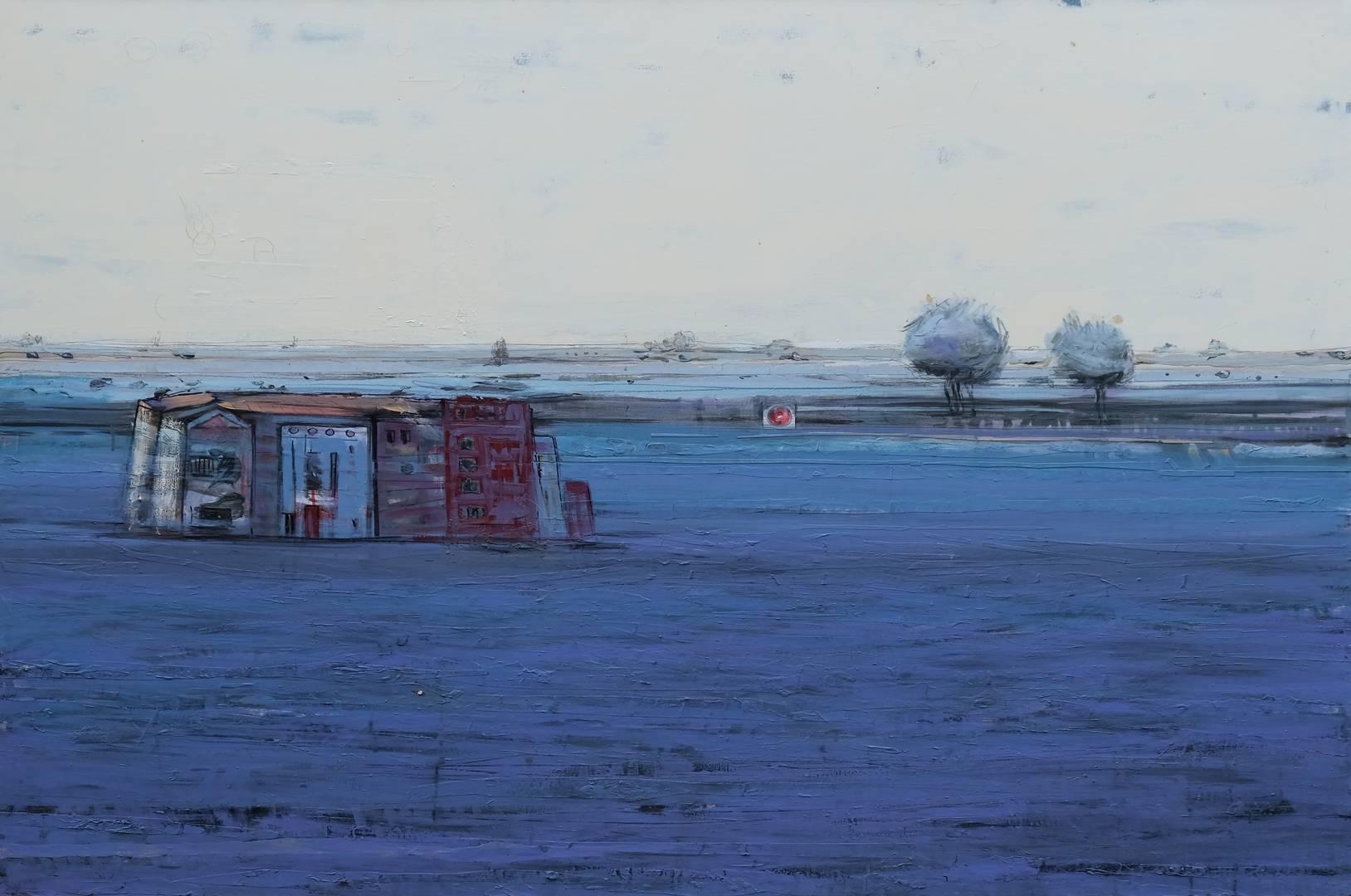 Sait Toprak, Sait Toprak, Xweza serisinden, 120x150 cm, Tuval üzerine karışık teknik, 2008,,
