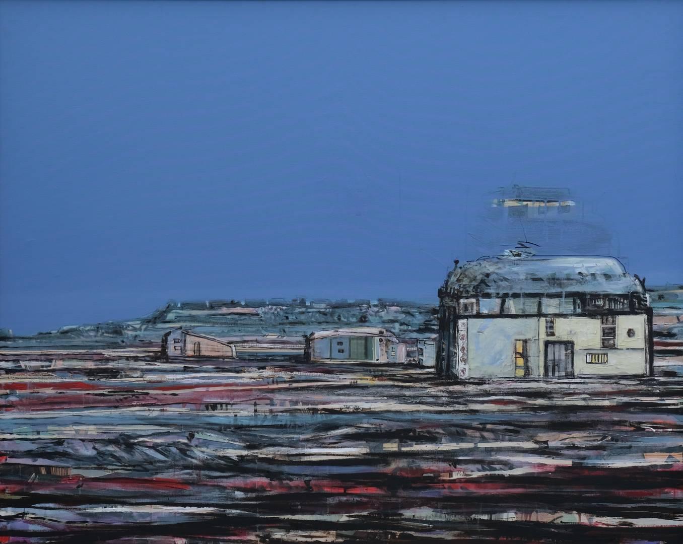 Sait Toprak, Xweza serisinden, 120x150 cm, Tuval üzerine karışık teknik, 2008