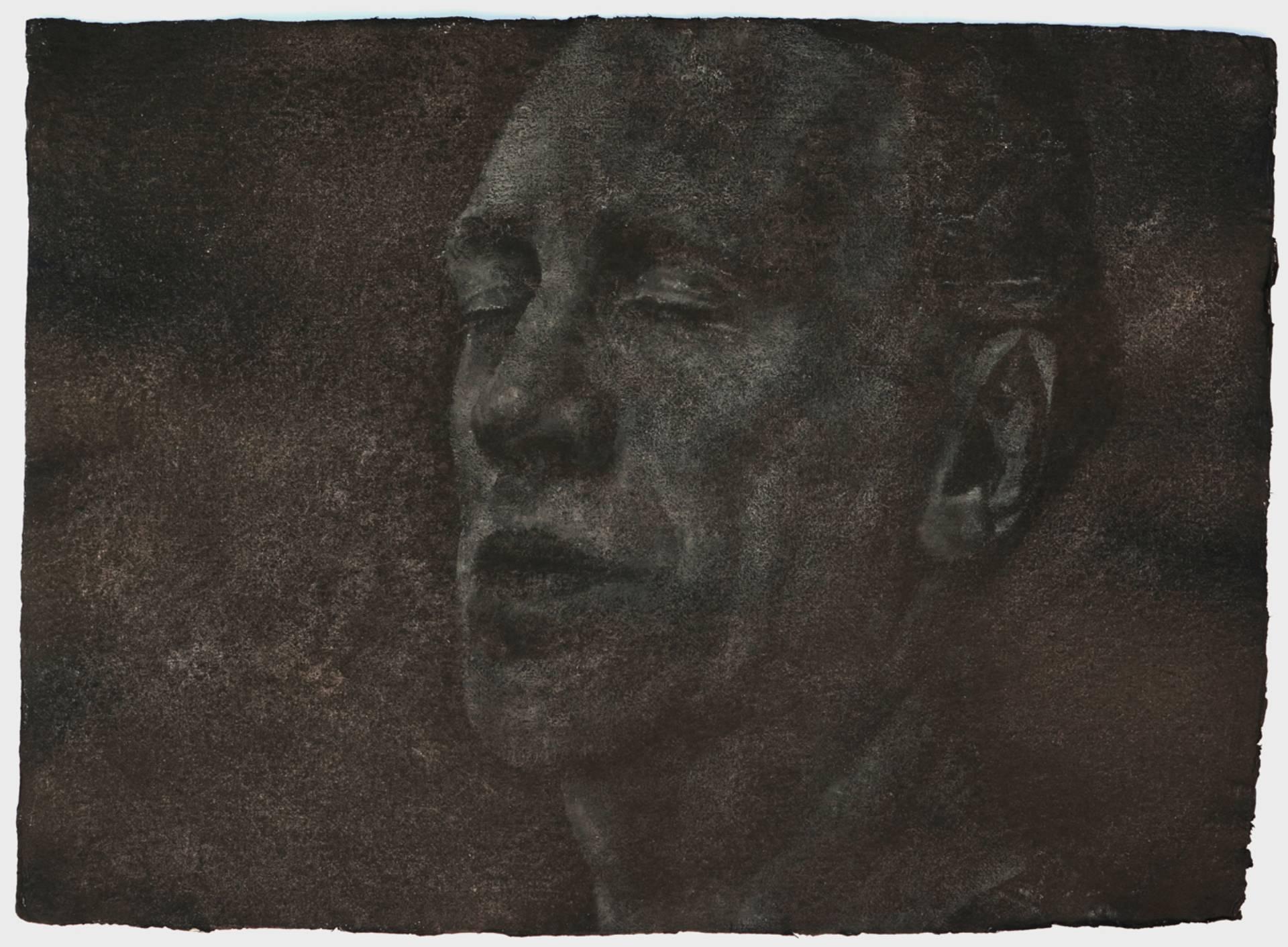 Vargtimmen no7, 56x76 cm,Oil on handmade paper, 2015